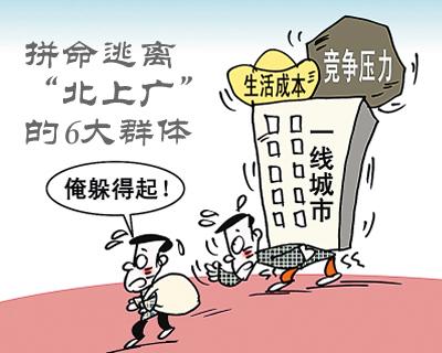"""拼命逃离""""北上广""""的6大群体"""